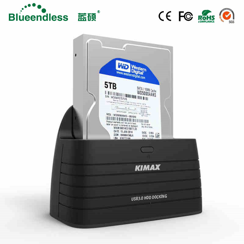 3.5 SATA HDD Docking Station USB 3.0 external hdd enclosure 2.5'' AC charger ssd dock station sata to USB 3.0 case Blueendless ugreen hdd enclosure sata to usb 3 0 hdd case tool free for 7 9 5mm 2 5 inch sata ssd up to 6tb hard disk box external hdd case