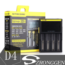 Chargeur 100% Original NItecore D4 Digi pour 18650 14500 18350 Li ion & Ni MH AA AAA 18650 14500 16340 26650 chargeur de batterie