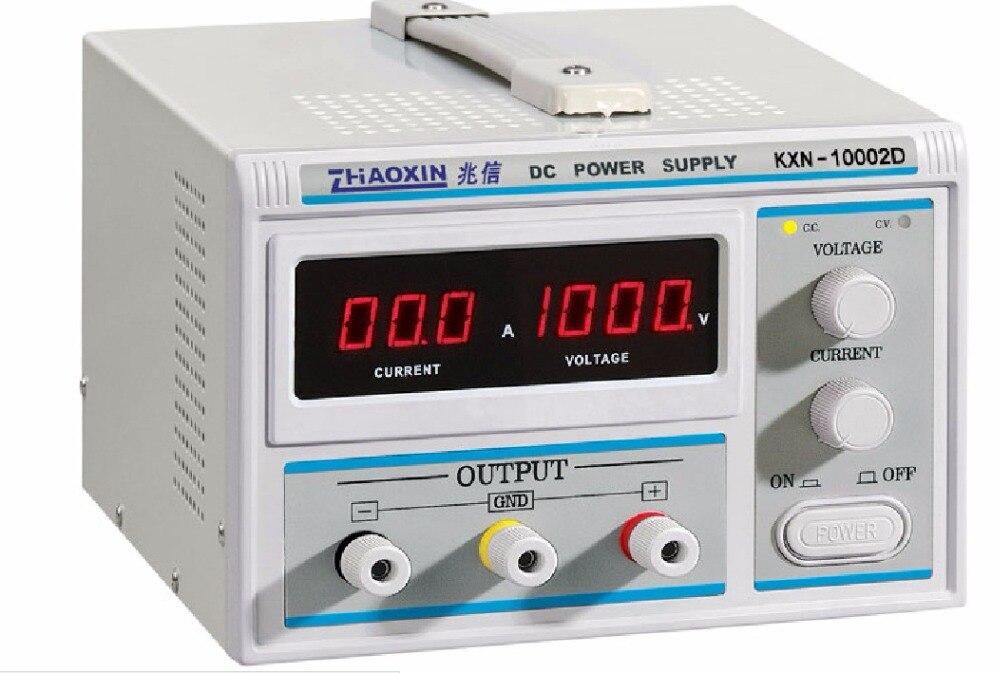 ZHAOXIN KXN-10002D D'origine haute puissance DC alimentation 1000 V haute tension réglable DC essai de vieillissement galvanoplastie curre constante