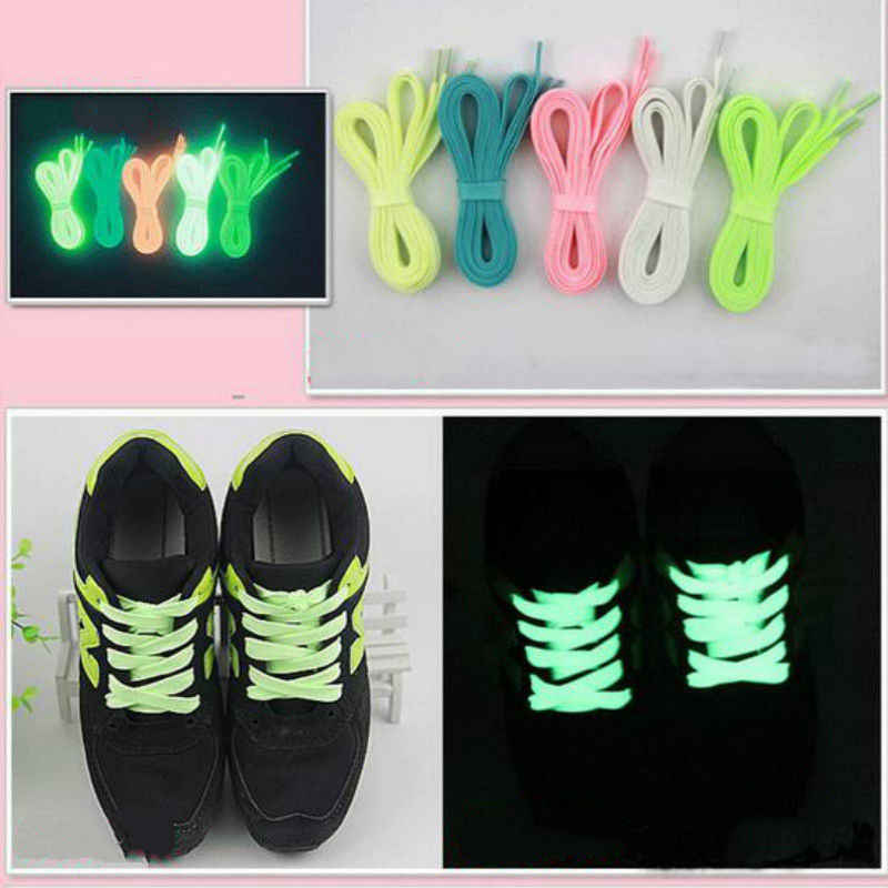 1 Pair 32 '' Luminous Glow Trong Dark Dây Giày Athletic Sport Boot Giày Ren Strings