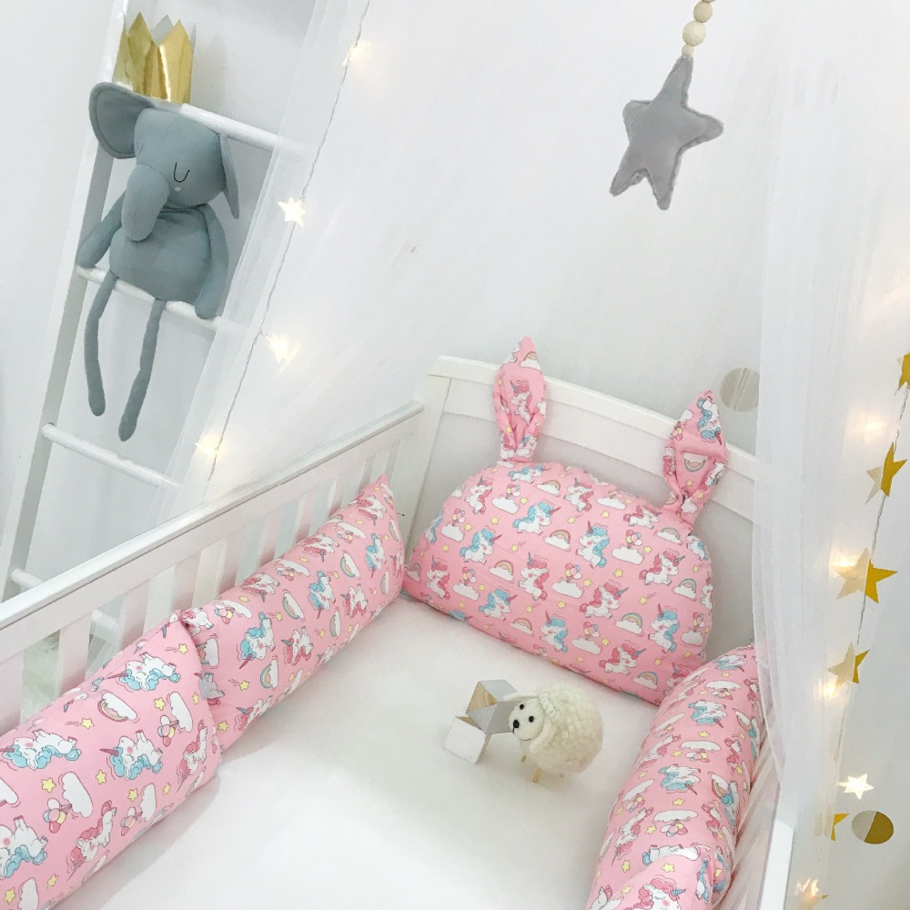 Mother & Kids Baby Bedding Cotton Crib Baby Bed Surrounding Childrens Bed Anti-collision Bed Kit Can Be Customized Good Heat Preservation Bedding Sets