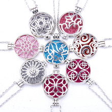 Aroma Open Antique Vintage Photo Locket Pendant Perfume Essential Oil Aromatherapy Diffuser Necklace Necklaces With Pad