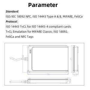 Image 2 - Lecteur de carte intelligent RFID, copieur, duplicateur de logiciel clone inscriptible, USB S50, 13.56mhz, ISO 14443 + étiquette UID 5 pièces, NFC ACR122U