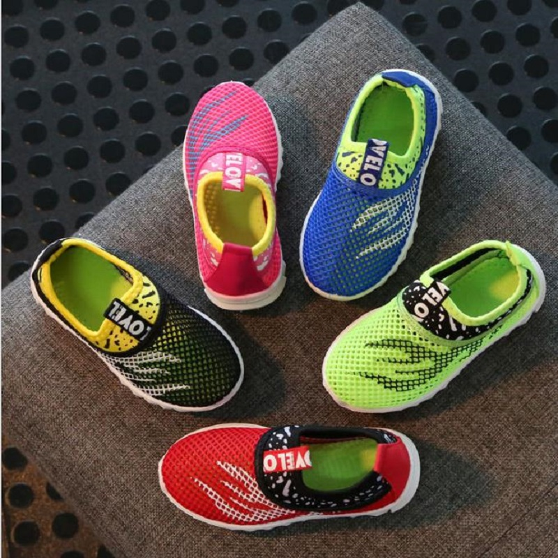 Kids Shoes Summer Breathable Mesh Children Shoes Single Net Cloth Sneakers Boys Girls Shoes
