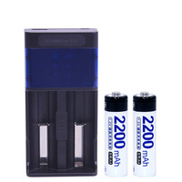2Slots Doublepow DP UK85 USB LCD Indicator Intelligent Fast Charger 2pcs 1 2V AA Ni MH