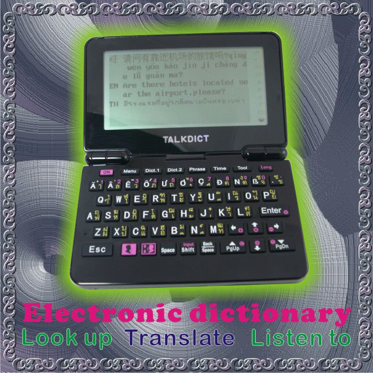 Spanish, Italian, French Human Small Language Electronic Dictionary