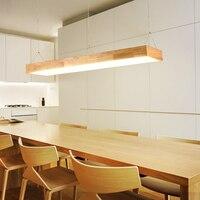 Люстра Массив дерева лампа led офиса гостиная свет лампы Обеденный стол столовая лампа Nordic люстра MZ146