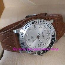 42 мм PARNIS 21 jewels японский 821A автоматические ветряные механические часы сапфир кристалл 10Bar светящиеся мужские часы 52sy