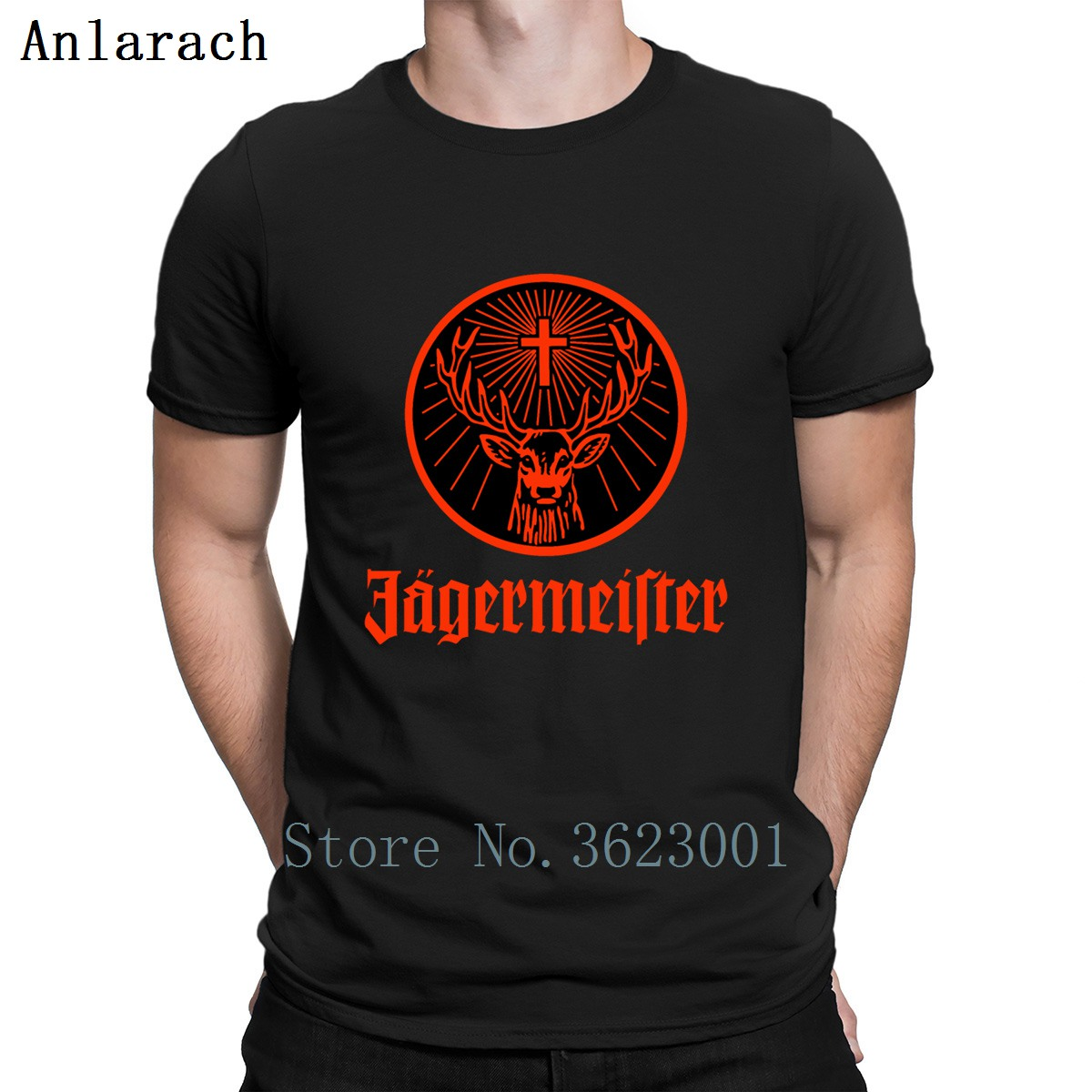 Jagermeister   T     Shirt   Cheap Popular Unique Create Tee   Shirt   S-3xl Men Tops Summer Style Fun