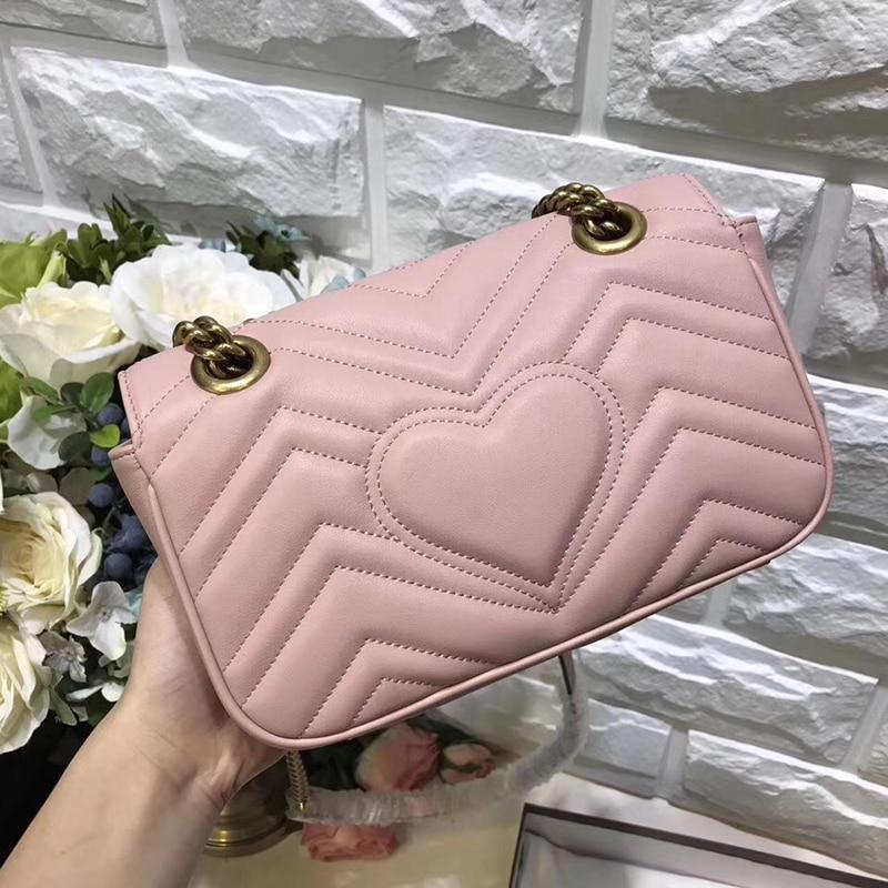 Women 16/22/26/31CM Lambskin Leather Marmont Messenger Bag Long Chain Bag Designer Shoulder Bags