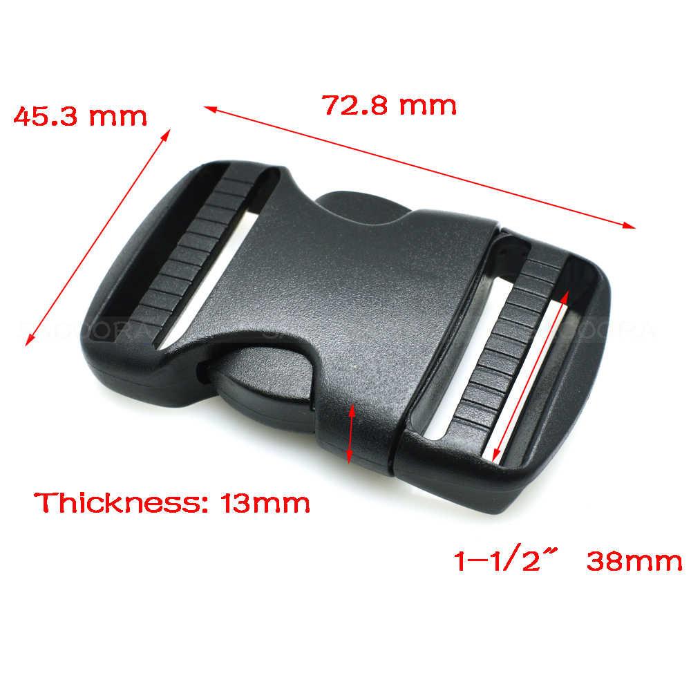 20mm 25mm 32mm ~ 50mm Hardware de plástico doble hebilla de Liberación lateral ajustable Molle Tatical mochila cinturón correas de correa de piezas de bolsa