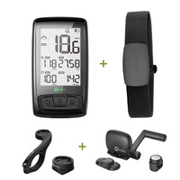 Wireless Bicycle Computer Bike Speedometer Tachometer Cadence + Speed Sensor Weather SETB with Bluetooth Heart Rate Monitor