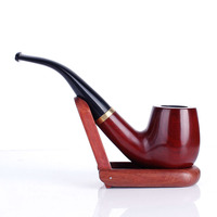 Redwood Wood Pipes Activated Carbon Double Filter Smoking Pipe Herb Tobacco Pipe Cigar Weed Grinder Smok