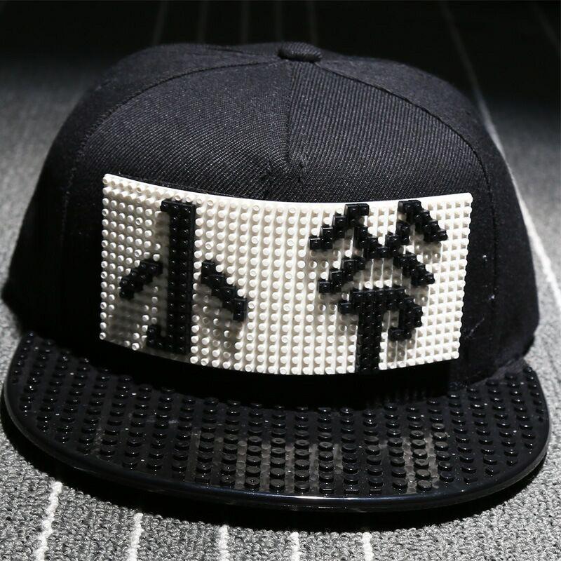 9e1f2b423ad young master Personality Legos cap high quality blocks DIY legos baseball  hat trucker snapback hat for