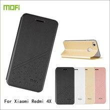 Для Xiaomi Redmi 4X Дело MOFI Роскошные Флип Кожа PU Стенд Fundas Coque чехол для Xiaomi Redmi 4X телефон случаях