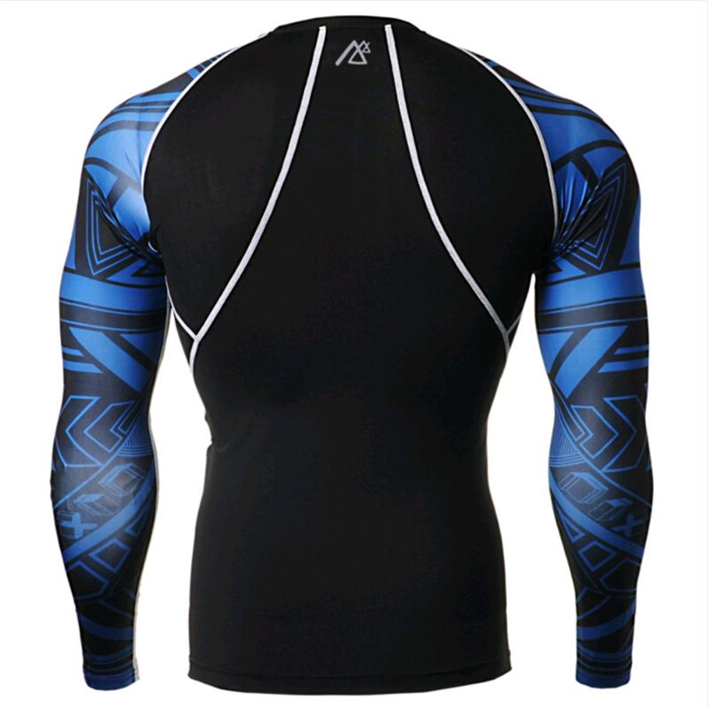 Mens Compression Shirts + Pants Sets Trainning Gym Running MMA Weightlifting Fitness Skin Tight Base Layers Set - 3