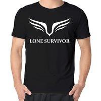Novelty Art Design Summer Casual Popular Movie Lone Survivor Logo Men S Printed High Quality Cotton