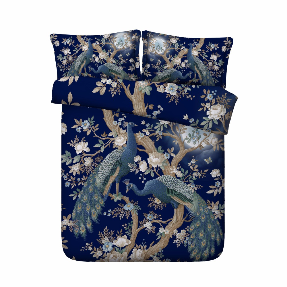 Bedding Sets Forceful Free Shipping 3d Animal Peacock Sheep Sloth Cat Bedding Set 1 Duvet Cover&2 Pillow Cases Twin/full/queen/king/super King Size