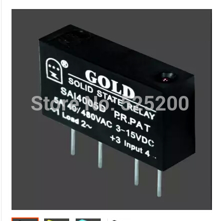 10pcs PCB small solid state relay single-in-line SAI4005D DC to AC 5A SSR input 3-15v or 15-25v output 40-480V smart electronics original solid state relay g3mb 202p dc ac pcb ssr in 5vdc out 240v ac 2a