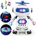 BOHS Espacio Baile Humanoide Robot de Juguete Con Luz Para Niños Mascotas Brinquedos Electrónica Jouets Electronique de Niño Chico