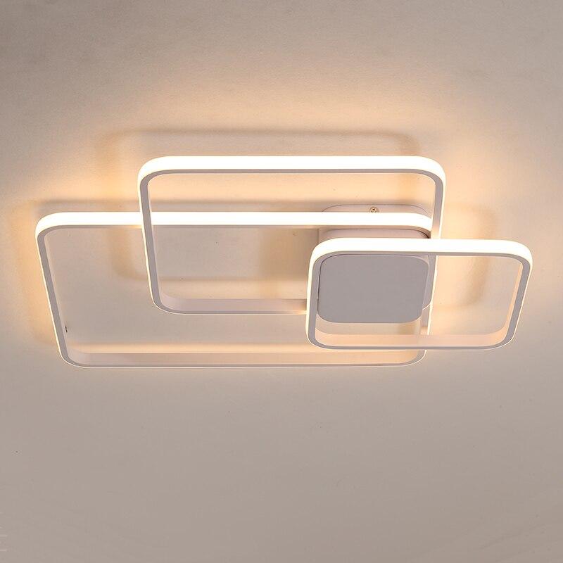 White/Brown Modern LED Chandelier For Living Room Bedroom Aluminum Ceiling Chandelier Lighting luminaria lustre lampadarioWhite/Brown Modern LED Chandelier For Living Room Bedroom Aluminum Ceiling Chandelier Lighting luminaria lustre lampadario