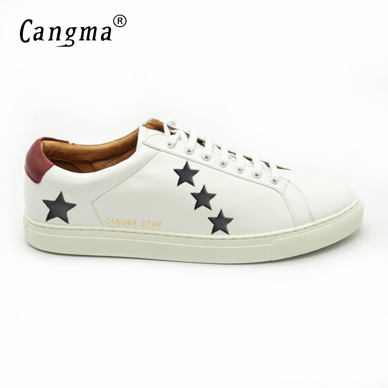 CANGMA Designer Shoes Men 2017 Superstar Genuine Leather Mens Sheepskin  Casual White Breathable Shoes Sapatos Masculinos Social-in Men s Casual  Shoes from ... 4778a0ceab3b