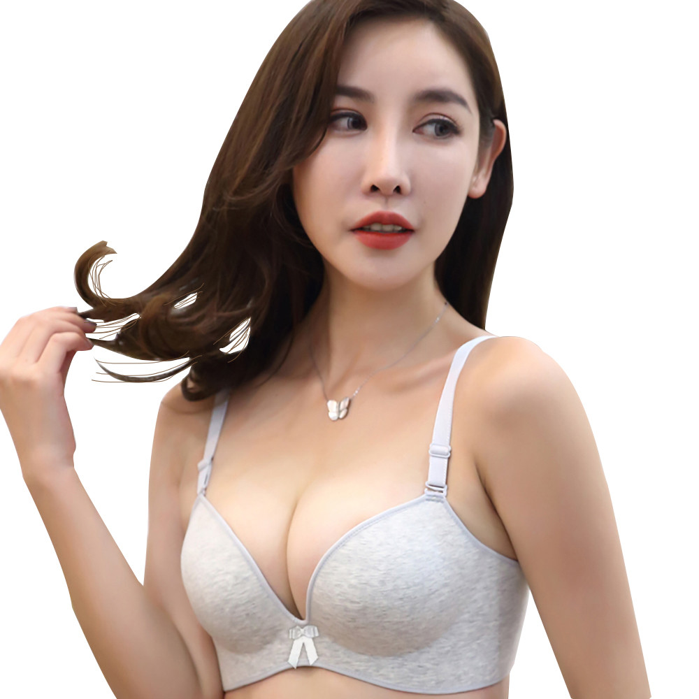New sexy bra without mark seamless wire free ring bra fashionable stripe bra ladies underwear lingerie
