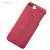 Luxury custom made for iphone case Pearl fish cover leather phone case for iphone 5 case Handmade custom phone case