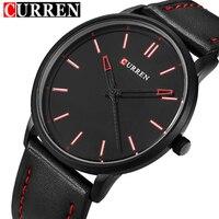 2016 New Luxury Brand Curren Men Leather Band Sports Watches Men S Quartz Analog Clock