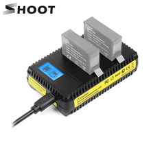 SHOOT Smart LCD Display Dual Port USB Battery Charger for Go