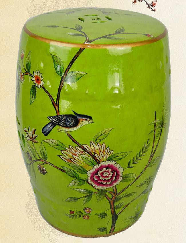 Jingdezhen Indoor Ceramic Antique Home Drum Porcelain Garden Stool Glazed  Hand Painted Round Painted Ceramic Stool