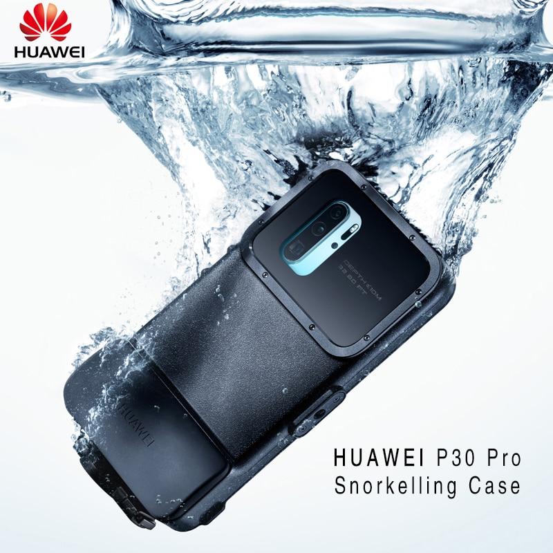HUAWEI P30 Pro étui officiel Original étanche natation caméra de plongée housse de protection HUAWEI P30 Pro housse de plongée avec tuba