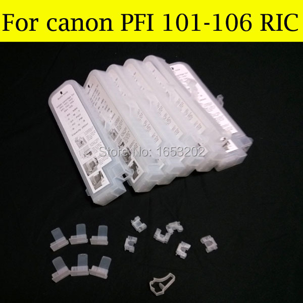 8 Pieces/Lot Empty Refill Ink Cartridge For Canon PFI-101 Without Chips For Canon iPF6000s 6000s Printer hp564 for hp photosmart c6350 all in one printer empty refill ink cartridge with auto reset chips