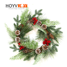 HOYVJOY Christmas Wreaths for Home Decorations Harvest Garlands Pine Cone Design Handing on The Wall Door Decoration export quality standard without any additive 100g harvest in remote mountain 99% cracked cell wall pure pine pollen tablets
