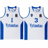 MM MASMIG LaMelo Ball 1 LiAngelo Ball 3 Lithuania Vytautas Basketball Jersey Stitched White Limited Edition