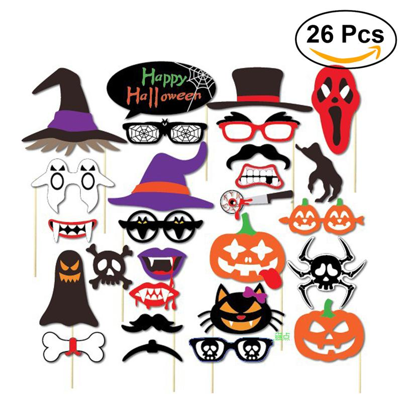26pcs halloween party photo booth props happy halloween photo props kit for party decorationchina - Halloween Photography Props