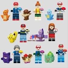 8 pcs star wars Pikachu de super-heróis da marvel Comics modelo de blocos de construção tijolos brinquedos para crianças brinquedos Do Bebê