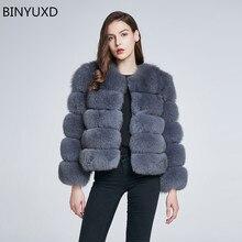 BINYUXD Зимнее пальто новое пальто с мехом женское короткое меховое пальто с искусственным мехом зимняя верхняя одежда розовое пальто Осенняя Повседневная Верхняя одежда для вечеринки Женская