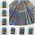 16Pcs/Lot 4*20CM Holographic Starry Sky Nail Foils Geometric Pattern Nail Art Transfer Sticker Decal Manicure Holo Nail Foil Set