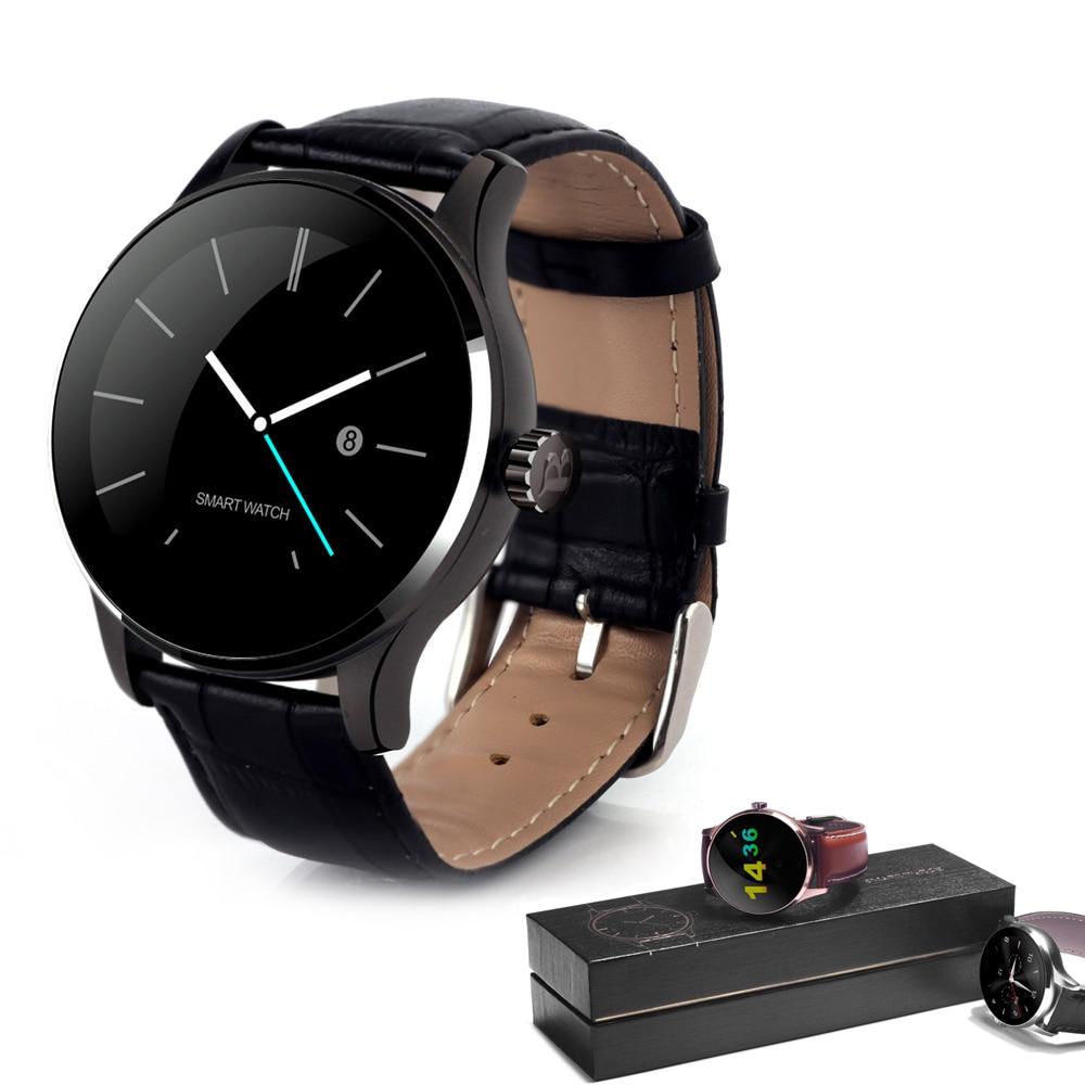 K88H Sport SmartWatch piste Bluetooth moniteur de fréquence cardiaque composition montre intelligente téléphone pour Android IOS 1.22 pouces IPS écran rond