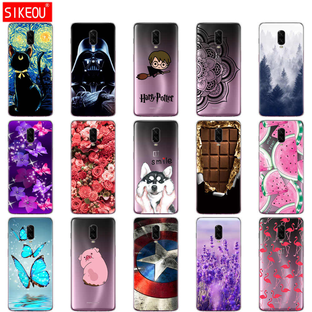 silicone case for oneplus 6t soft tpu cover Coque for one plus 6T case etui cover for oneplus6 t fundas painting protect coque