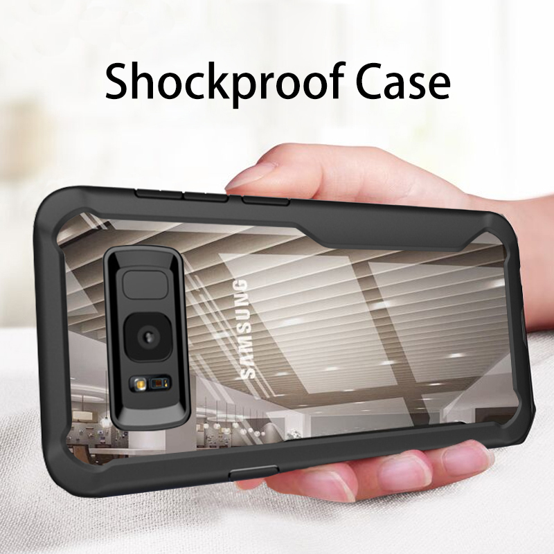 Case For Samsung Galaxy S10 S9 S8 Plus S10e Note 9 8 Silicone Acrylic Shockproof Armor Case For Samsung A7 A8 A5 A6 J8 2018 A7
