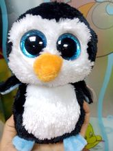 New Hot 18cm Ty Beanie Boos Original Big Eyes Penguin Plush Toy Staffed Doll Children Birthday Gift Penguin And Owl Ty Toy Baby