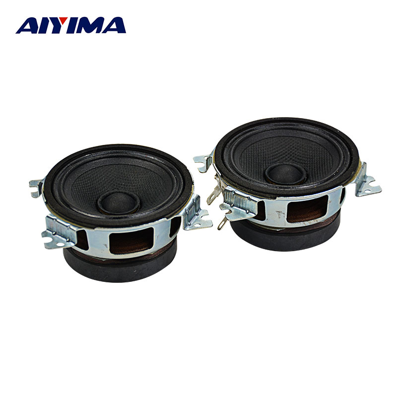 AIYIMA 2Pcs 2.5Inch Audio Portable Speaker 4Ohm 20W DIY Fever Magnetic Horn Surround Music Speakers