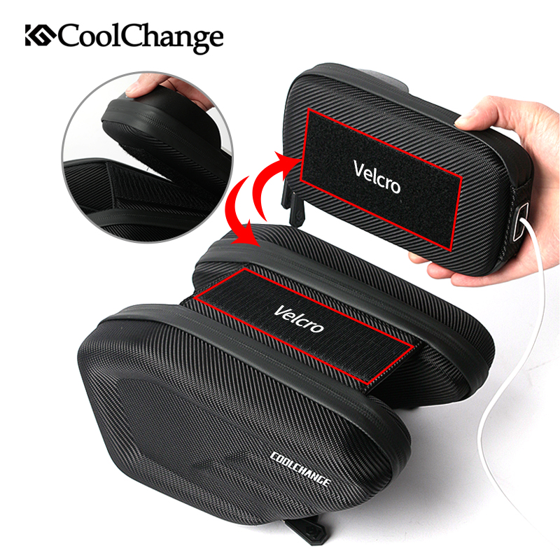 Купить с кэшбэком Coolchange Cycling Bike Bag Touch Screen Waterproof Bicycle Front Tube Bag Road Mountain MTB Frame Phone Bag Bike Accessories