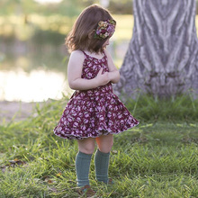 Baby Girl Clothes Summer Dress Child Cotton Sleeveless Vintage Floral Fashion Clothing Elegant
