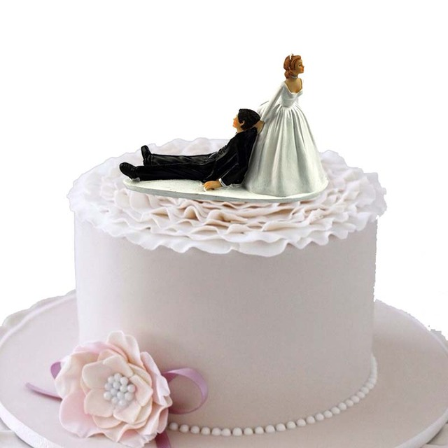 Bride Groom Cake Topper Wedding Engagement 10th 20th 30th Anniversary Vow Renewal Proposal Birthday Table Centerpiece