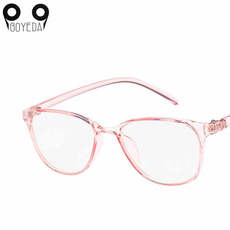 f4cb7db9008 BOYEDA New Women Men Clear Transparent Glasses Young People Square Frame  Fashion Ultralight Frame Eyeglasses Prescription