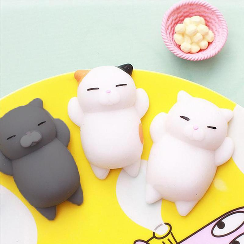 Mini Squishy Toy Kitten Animal Toys Antistress Ball Squeeze Mochi Rising Toy Abreact Soft Sticky Squishi Stress Relief Funny Toy