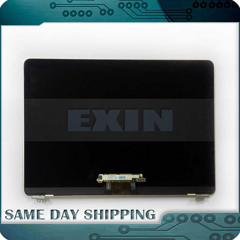 Véritable Gris/Argent/Or Rose/Or Couleur pour Macbook Retina 12 A1534 LCD Full Affichage Écran Ensemble complet 2015 2016 2017